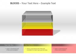 透明彩色三方格PPT模板下载
