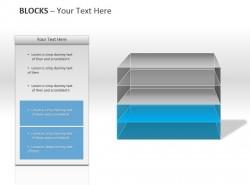 透明彩色四方格PPT模板下载