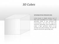 3D透明大立方体PPT模板下载