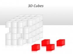 3D透明小立方体PPT模板下载