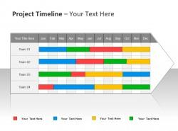 项目时间表之4Team PPT模板下载