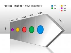 项目时间表之立体箭头PPT模板下载