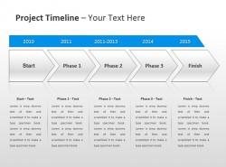 项目时间表之箭头递进PPT模板下载