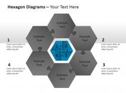 六角图PPT模板下载