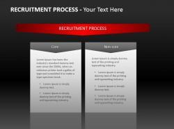 招聘流程两文本PPT模板下载