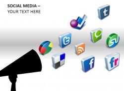 社交媒体常见图例PPT模板下载
