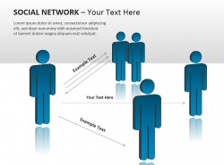 社交网络之联系PPT模板下载