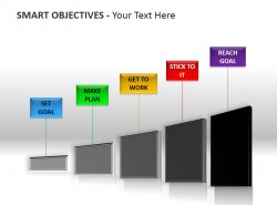 SMART原则五步骤图PPT模板下载