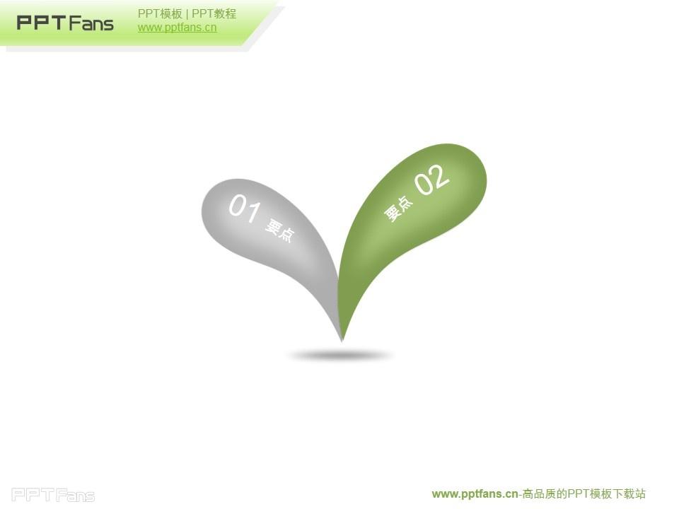 成长中的嫩芽ppt模板素材下载