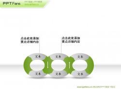 三个扣在一起的锁链ppt素材下载