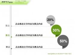 个性的百分比文字说明PPT素材