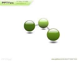 三个串联的3d立体小球PPT素材下载