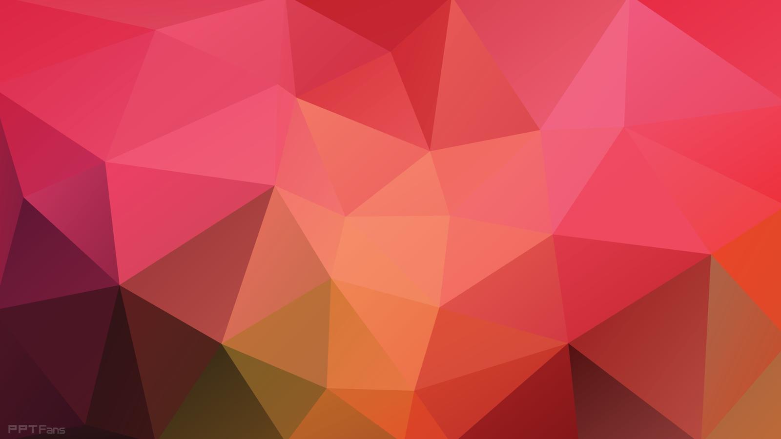高清晰时尚低多边形ppt背景图打包分享(第四弹 26张) Ppt设计教程网