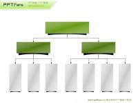 三层组织机构架构图ppt模板下载