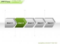 5个立体箭头组ppt模板下载