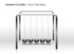 牛顿摆PPT模板下载