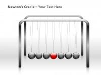 牛顿摆之红色球PPT模板下载