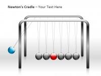 牛顿摆之摆动PPT模板下载