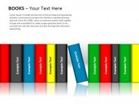 彩色书本PPT模板下载