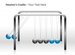运动中的牛顿摆PPT模板下载