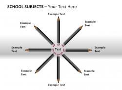 铅笔八部分说明PPT素材下载
