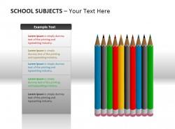 彩色铅笔PPT素材下载