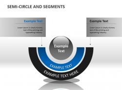 半圆两部分说明PPT素材下载