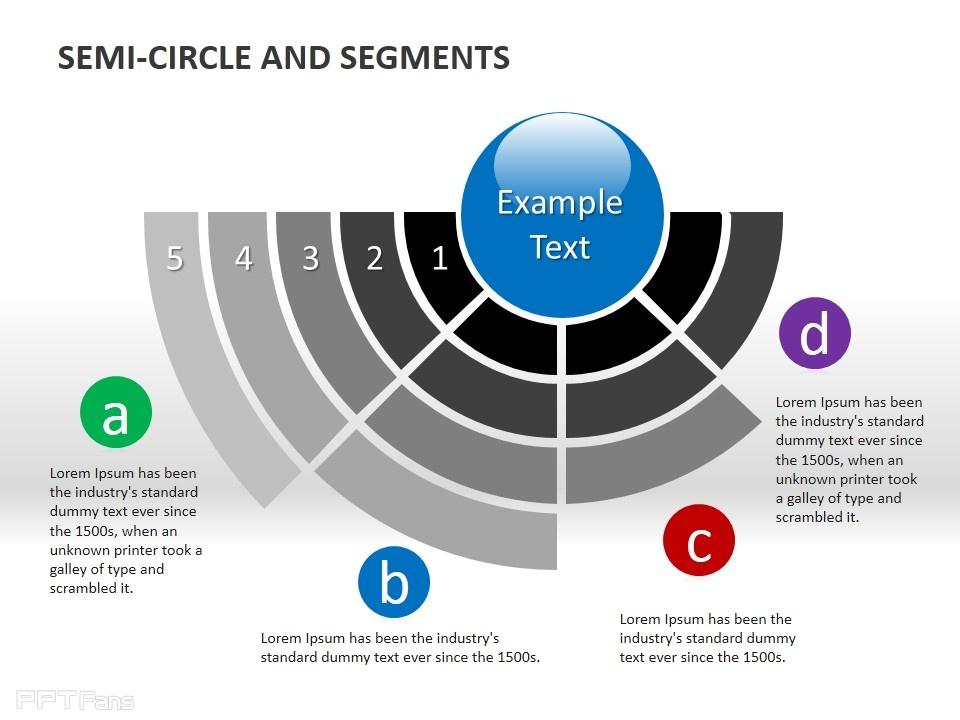 半圆递减分段ppt素材下载_ppt设计教程网