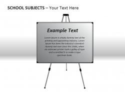 学校科目之白板PPT模板下载