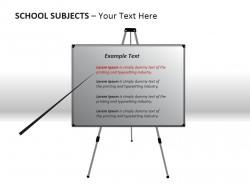 学校科目之白板演示PPT模板下载