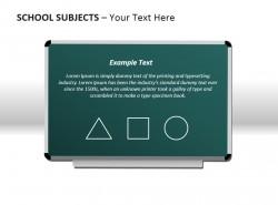 学校科目之黑板PPT模板下载
