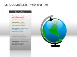 学校科目之地球仪PPT模板下载