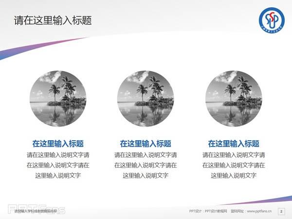 上海第二工业大学PPT模板下载_幻灯片预览图3
