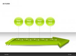 绿色箭头四部分说明PPT模板下载