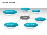3D平台之总分结构PPT模板下载