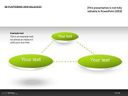 3D绿色三平台PPT模板下载