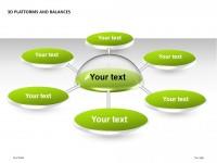3D绿色平台之放射状结构PPT模板下载