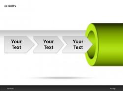 3D FLOWS之箭头向右说明PPT模板下载