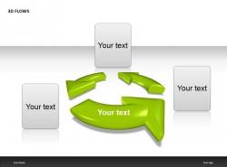 绿色箭头三部分说明PPT模板下载