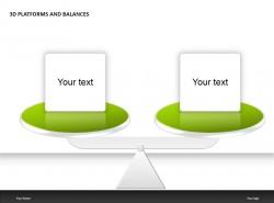 3D绿色平台与平衡PPT模板下载