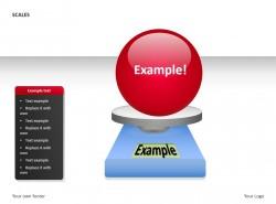 蓝色称之红色小球PPT素材下载