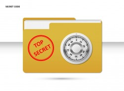 密码文件袋PPT素材下载