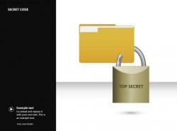 密码锁头PPT素材下载