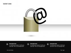 邮件密码PPT素材下载