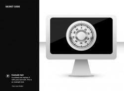 屏幕密码PPT素材下载