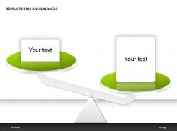 3D绿色平台之对称PPT模板下载