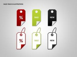 销售标签和插图PPT素材下载