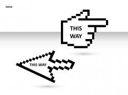 鼠标标志PPT模板下载