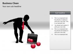 商业清洁PPT素材下载