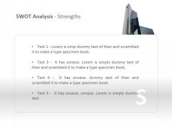 SWOT之优势分析PPT模板下载
